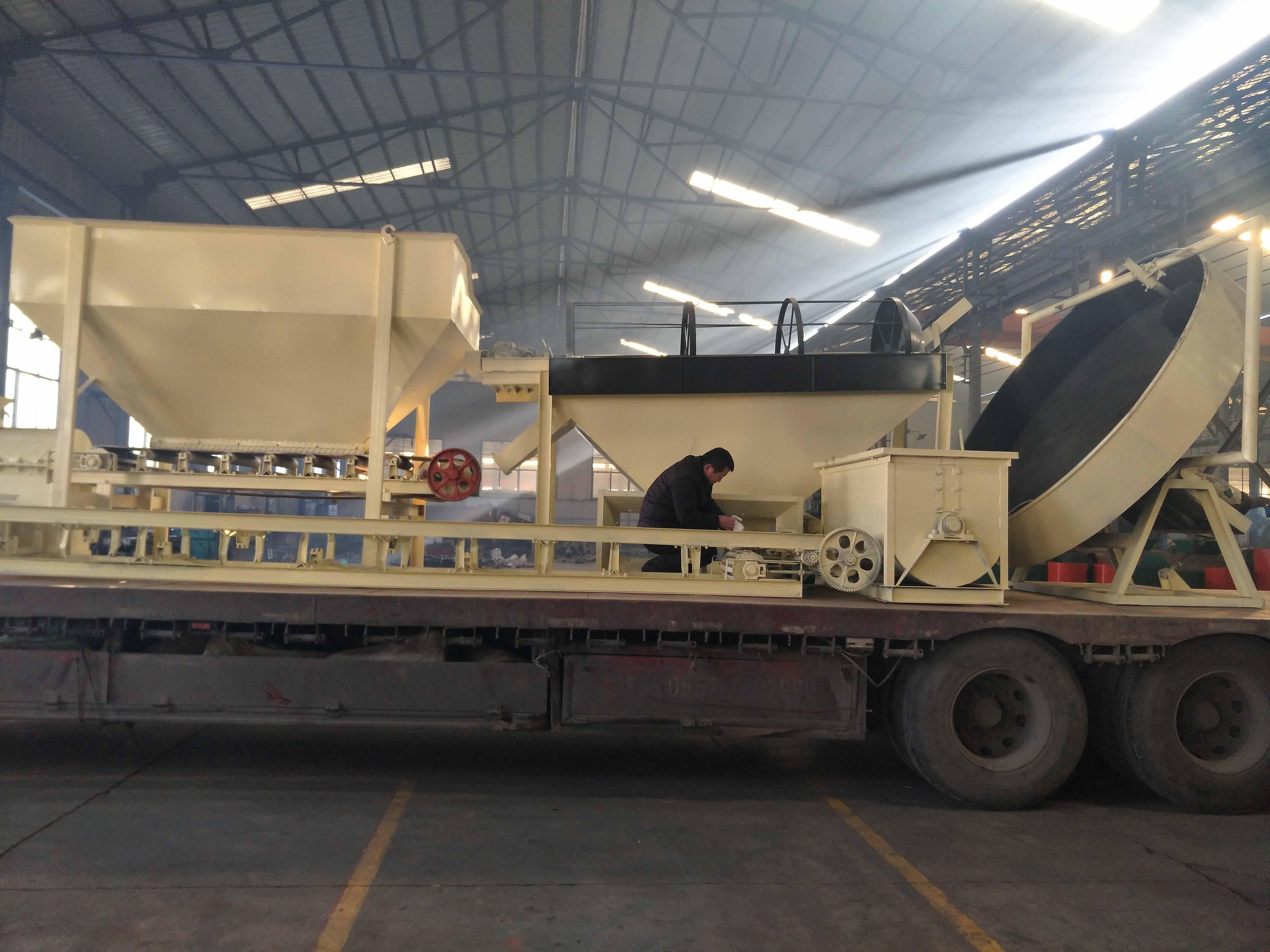 年产1万吨有机肥颗粒生产线发货现场